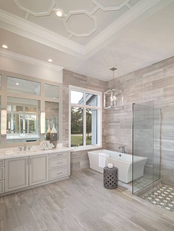 master bathroom interior design by Diana Hall Design Naples