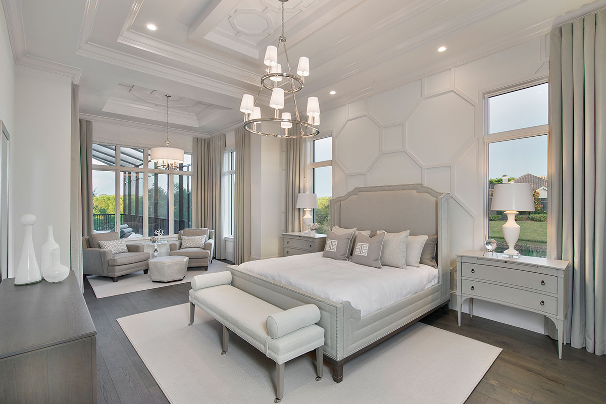 master bedroom interior design by Diana Hall Design Naples