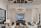 living room interior design by Diana Hall Design Naples