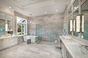 master bath interior design by Diana Hall Design Naples