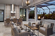 lanai interior design by Diana Hall Design Naples
