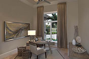 office interior design by Diana Hall Design Naples