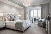 bedroom interior design by Diana Hall Design